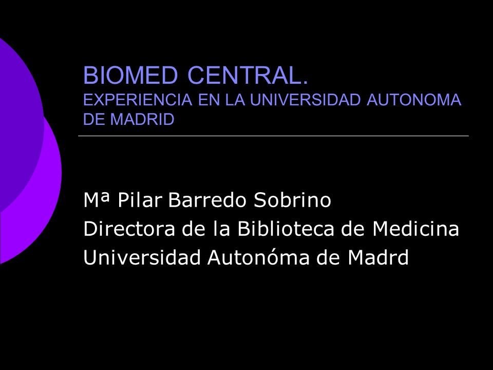 BIOMED CENTRAL.