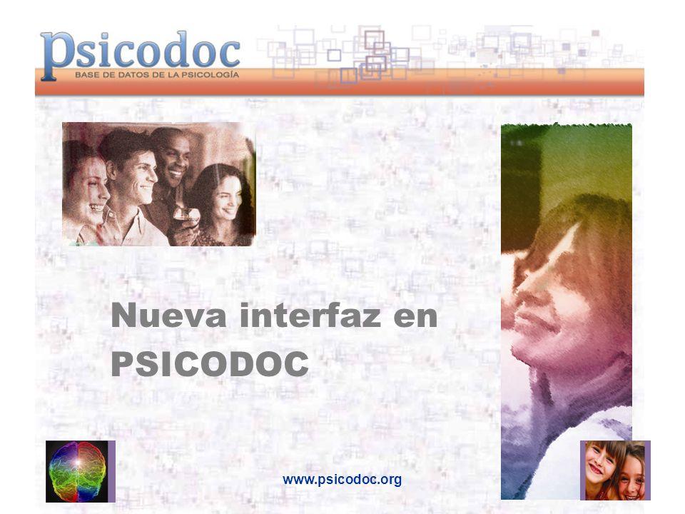 www.psicodoc.org Nueva interfaz en PSICODOC