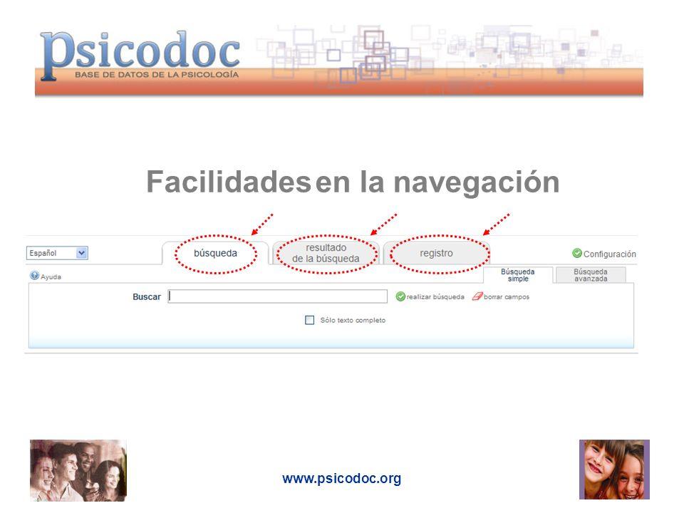 www.psicodoc.org 1.Interfaz multilingüe 2. Configuración 3.