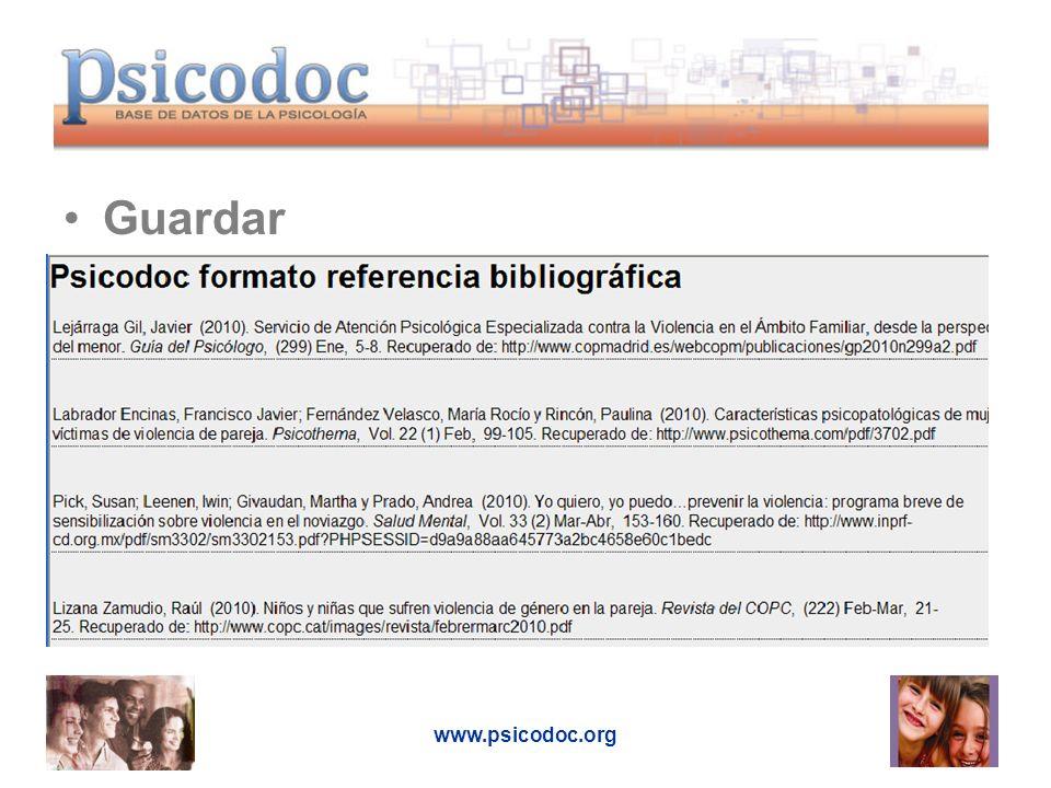 www.psicodoc.org Guardar
