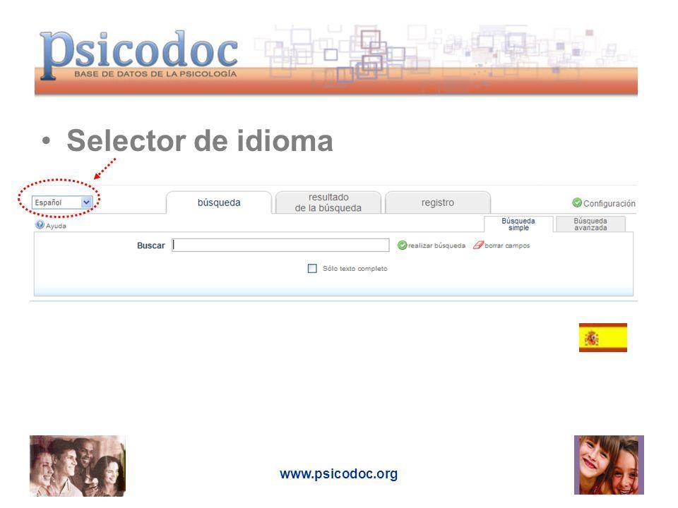 Resultados Ordenación Selección Tipo de publicación Texto completo en español, inglés y portugués Nº de resultados y criterios de búsqueda