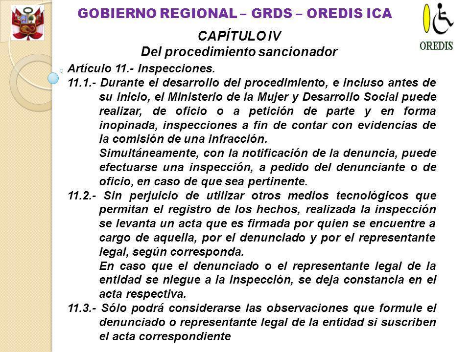 Artículo 10.- Inicio del Procedimiento. 10.1.- El Ministerio de la Mujer y Desarrollo Social inicia el procedimiento de oficio, por denuncia de la Def