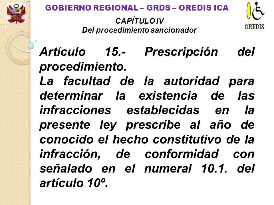 Artículo 14.- Resolución.