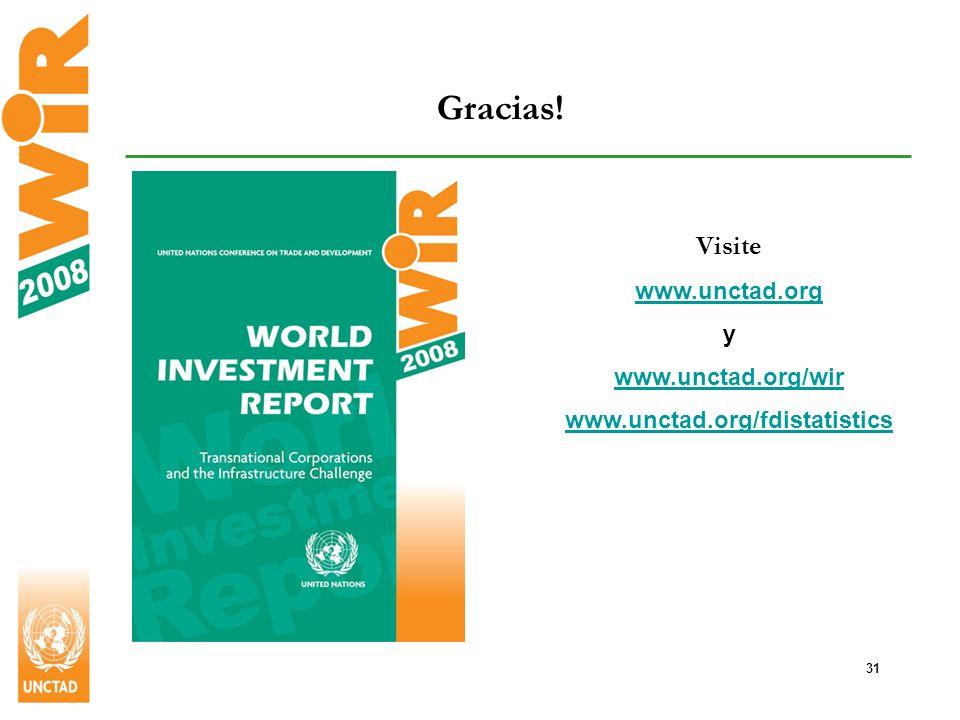 31 Gracias! Visite www.unctad.org y www.unctad.org/wir www.unctad.org/fdistatistics