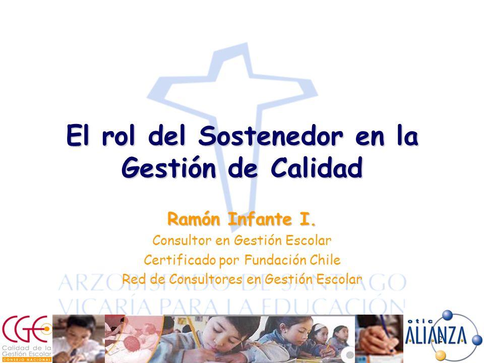 2 El rol del Sostenedor en la Gestión de Calidad Ramón Infante I.