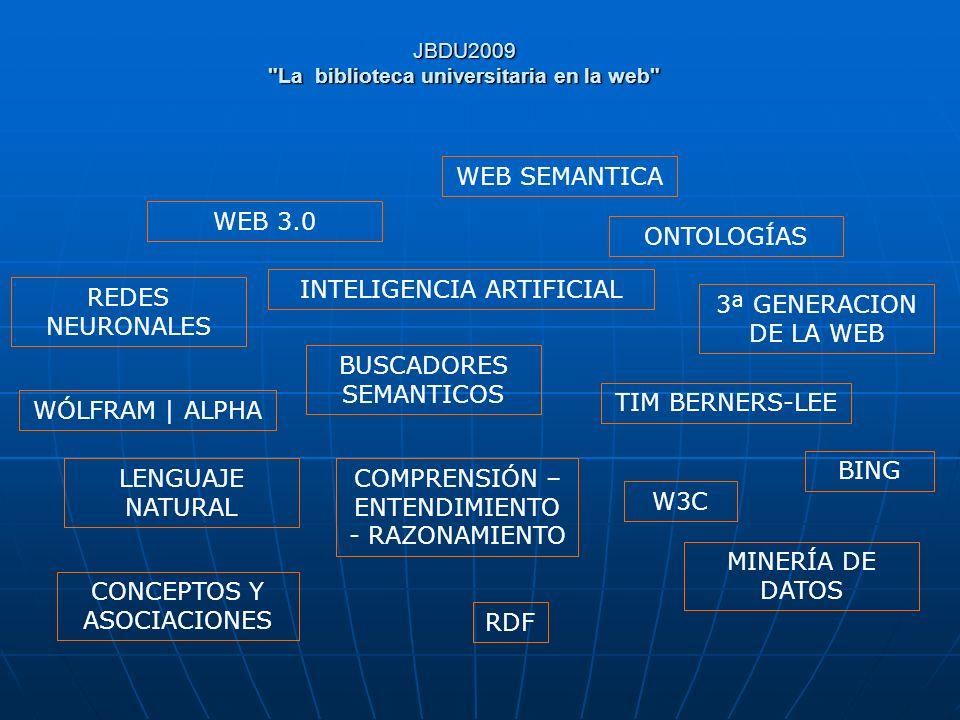 JBDU2009 La biblioteca universitaria en la web PRESENTACION DE LA INFORMACIÓN: ejemplo