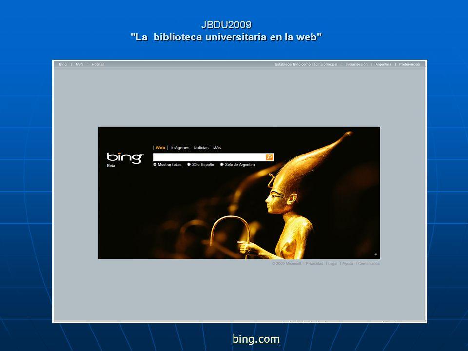 JBDU2009 La biblioteca universitaria en la web El mapa semántico del idioma Inglés clave para el Procesamiento del Lenguaje Natural (PLN) eficaz.