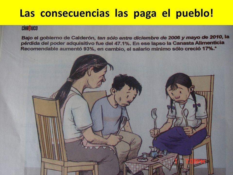 Las consecuencias las paga el pueblo!