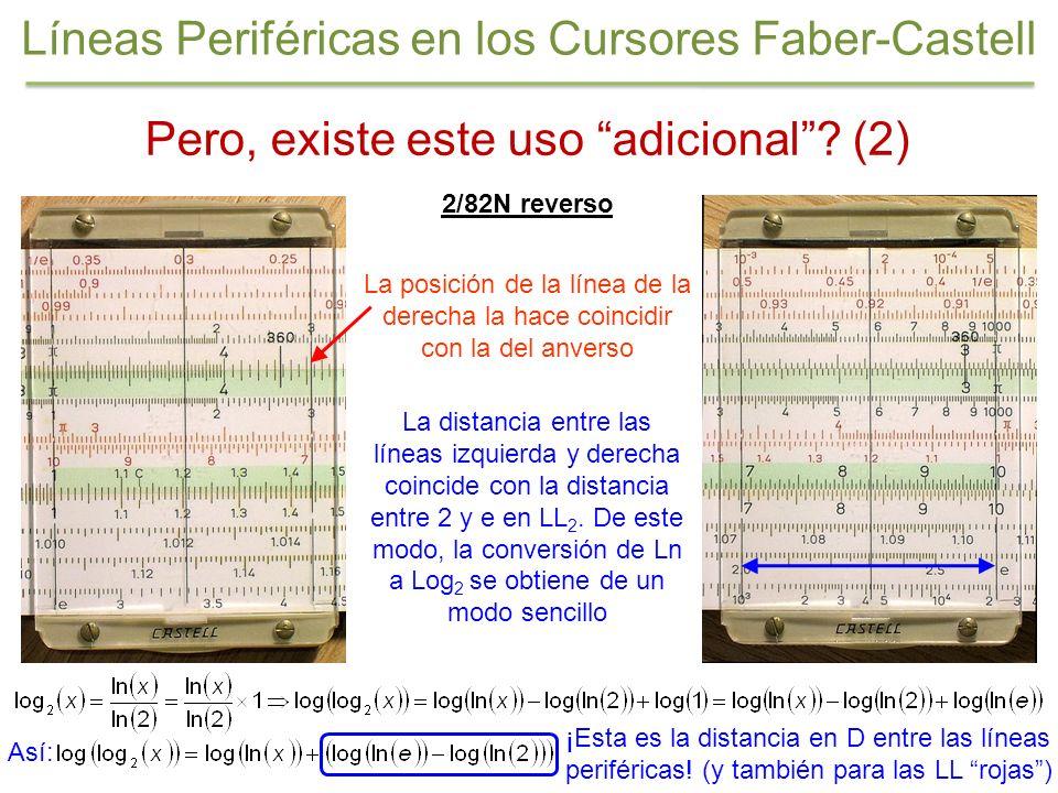 Pero, existe este uso adicional? (2) 2/82N reverso La posición de la línea de la derecha la hace coincidir con la del anverso La distancia entre las l