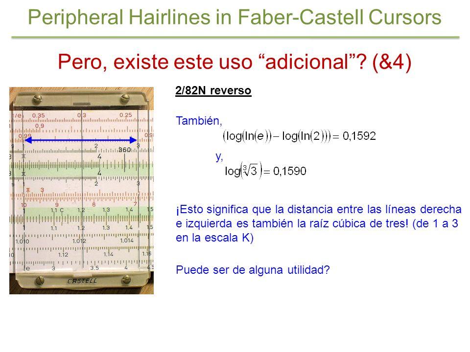 Peripheral Hairlines in Faber-Castell Cursors Pero, existe este uso adicional? (&4) 2/82N reverso También, y, ¡Esto significa que la distancia entre l