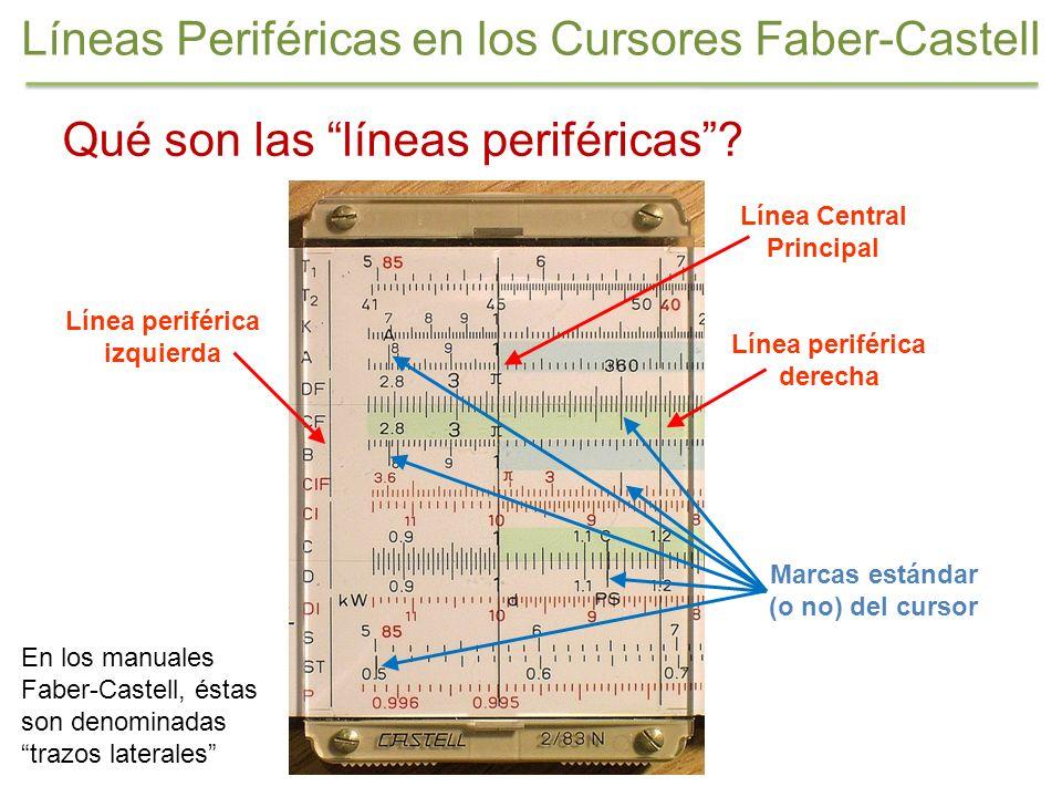 Líneas Periféricas en los Cursores Faber-Castell Qué son las líneas periféricas? Línea periférica izquierda Línea periférica derecha Línea Central Pri