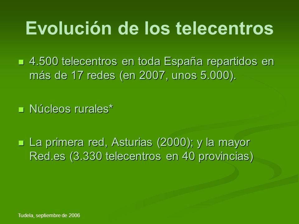 Tudela, septiembre de 2006 Retos futuros Ahora, las redes pioneras (Asturias, País Vasco o Extremadura) ya están mirando hacia un tercer objetivo: alcanzar la ciudadanía digital, es decir, incorporar la administración pública a la vida de las personas.