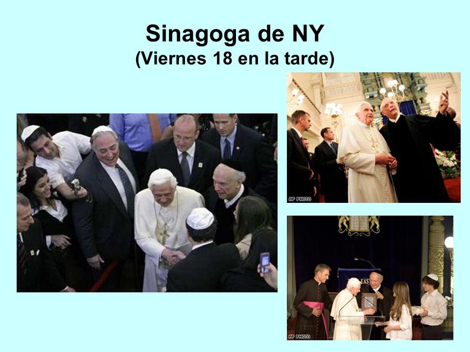 Sinagoga de NY (Viernes 18 en la tarde)
