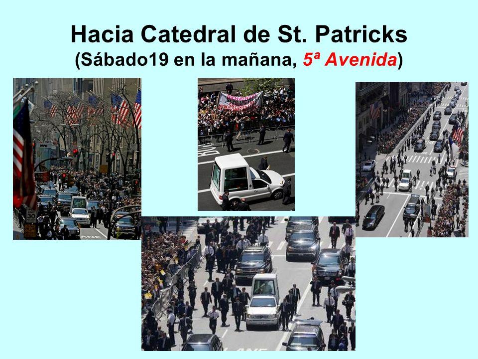 Hacia Catedral de St. Patricks (Sábado19 en la mañana, 5ª Avenida)