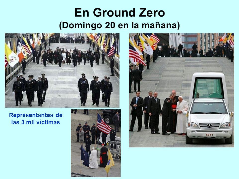 En Ground Zero (Domingo 20 en la mañana) Representantes de las 3 mil víctimas