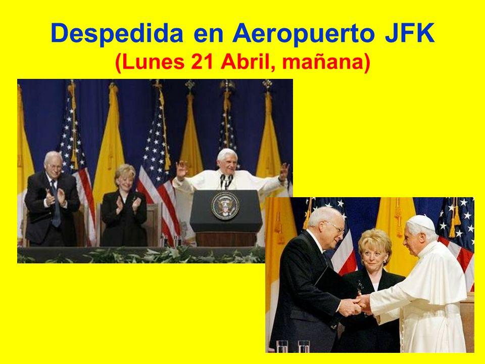 Despedida en Aeropuerto JFK (Lunes 21 Abril, mañana)