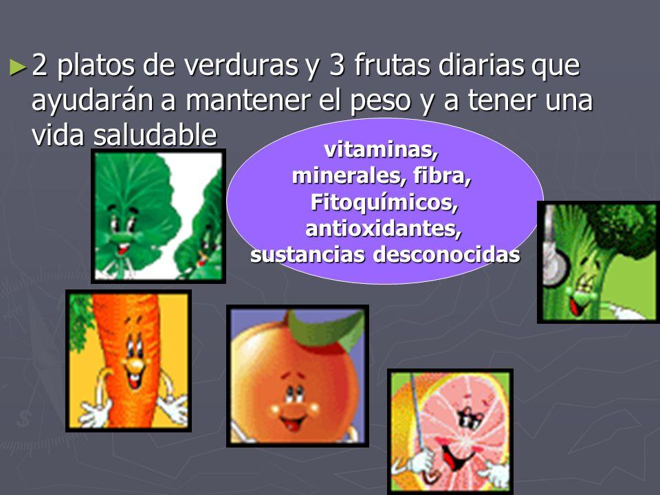 2 platos de verduras y 3 frutas diarias que ayudarán a mantener el peso y a tener una vida saludable 2 platos de verduras y 3 frutas diarias que ayudarán a mantener el peso y a tener una vida saludablevitaminas, minerales, fibra, Fitoquímicos, antioxidantes, antioxidantes, sustancias desconocidas