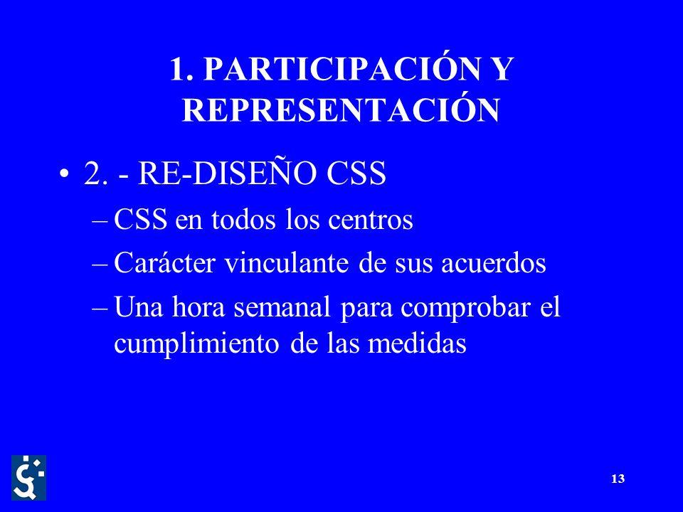 13 1. PARTICIPACIÓN Y REPRESENTACIÓN 2.