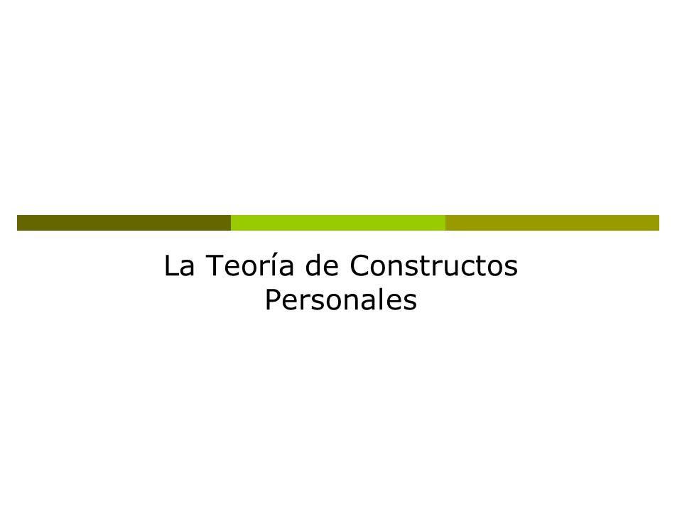 La Teoría de Constructos Personales