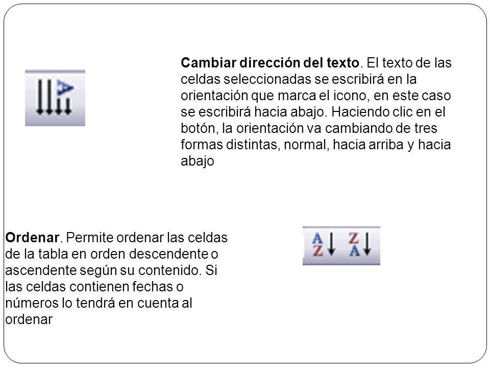 Distribuir uniformemente. Permiten distribuir el ancho de las columnas y filas uniformemente, de forma que todas las columnas/filas tengan el mismo an