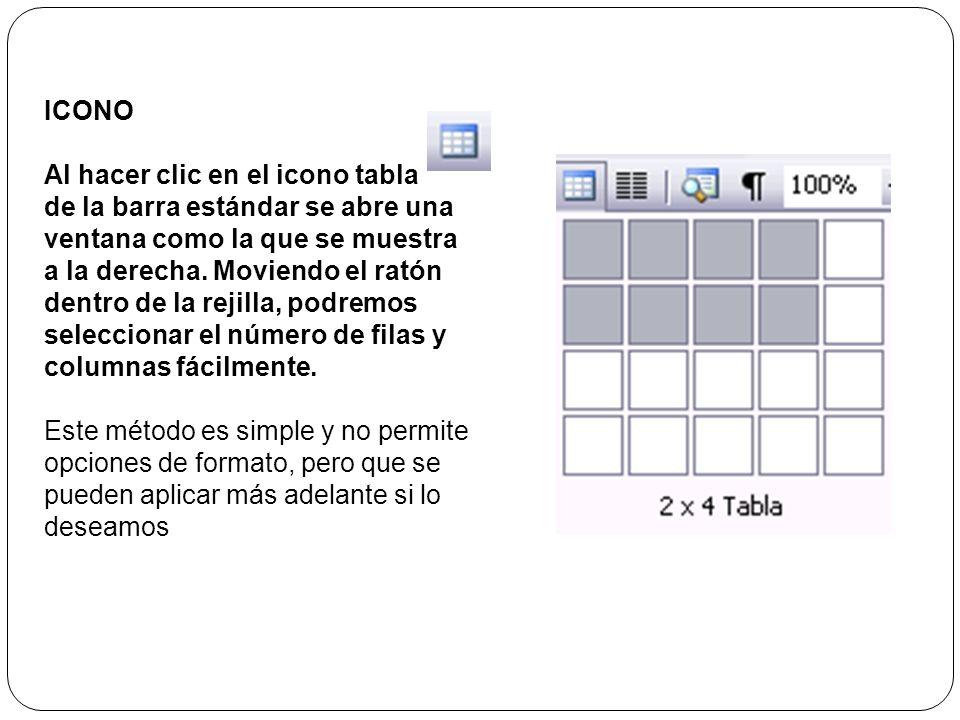 Autoformato. Mediante este botón podemos elegir entre varios formatos ya establecidos, como, por ejemplo,Tabla clásica 2 que es el que se ve en la ima