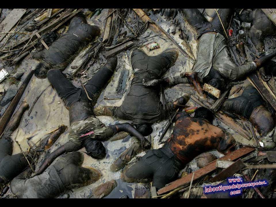 Los cuerpos de las víctimas del tsunami flotando en un río en el centro de Banda Aceh, Indonesia, el 2 de enero 2005. La cifra total de muertos y desa
