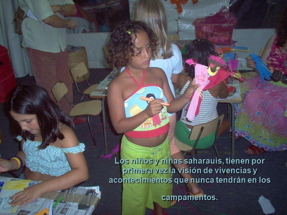 Se ha demostrado, que los niños y niñas saharauis que han pasado algunos veranos entre nosotros, son más altos y están mejor dotados para resistir las