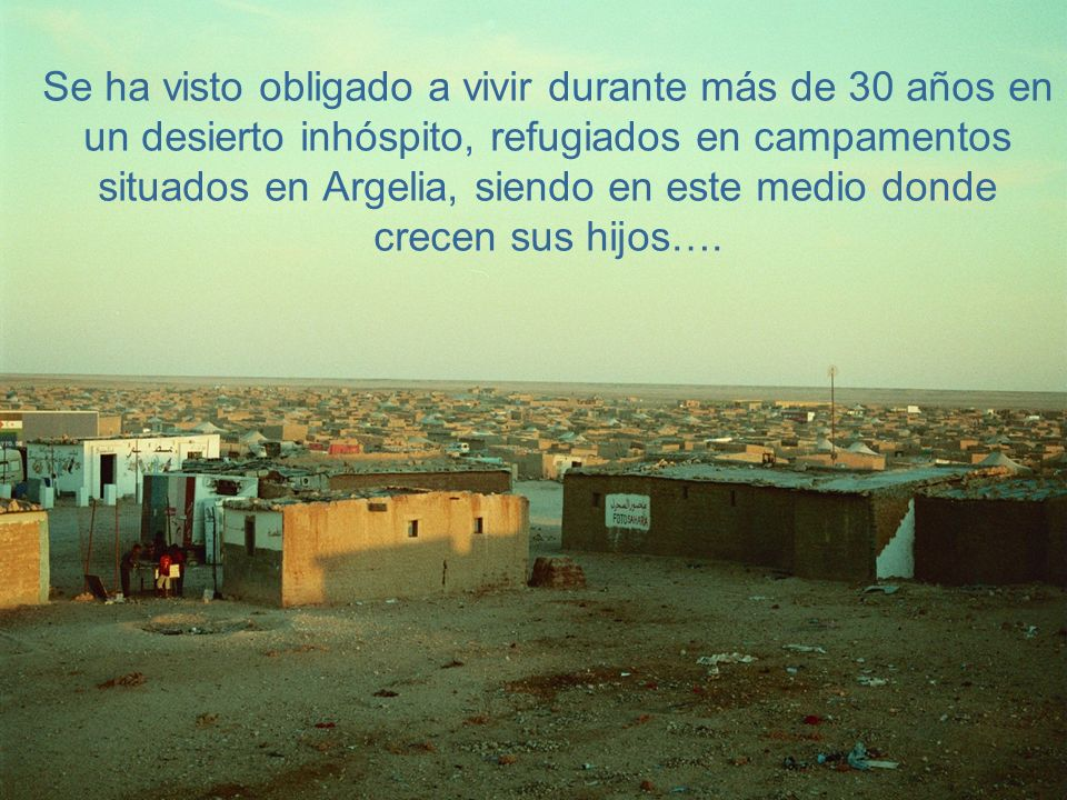 El pueblo saharaui es un pueblo muy hospitalario, alegre, honesto y generoso, lleno de vida y de ilusiones, muy amante de sus hijos…. y que nunca pier