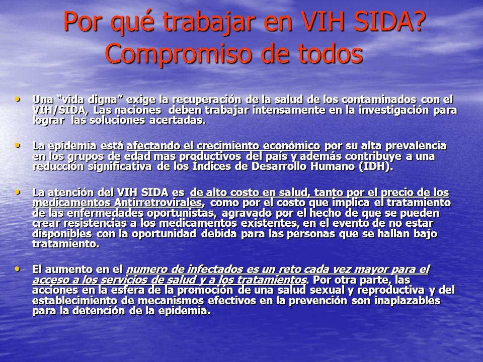 Por qué trabajar en VIH SIDA? Compromiso de todos Por qué trabajar en VIH SIDA? Compromiso de todos Una vida digna exige la recuperación de la salud d