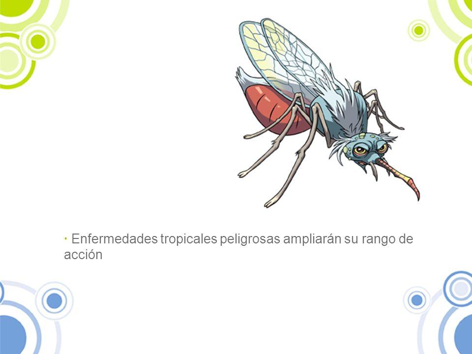 · Enfermedades tropicales peligrosas ampliarán su rango de acción