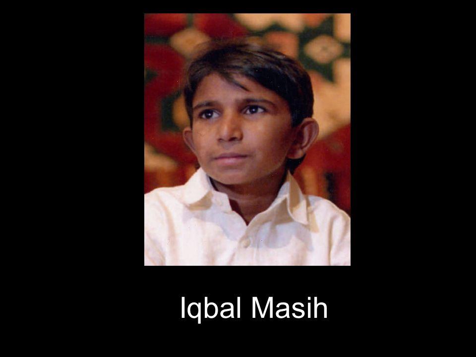 Iqbal viajo por el mundo denunciando las condiciones en que viven y trabajan millones de niños esclavos.