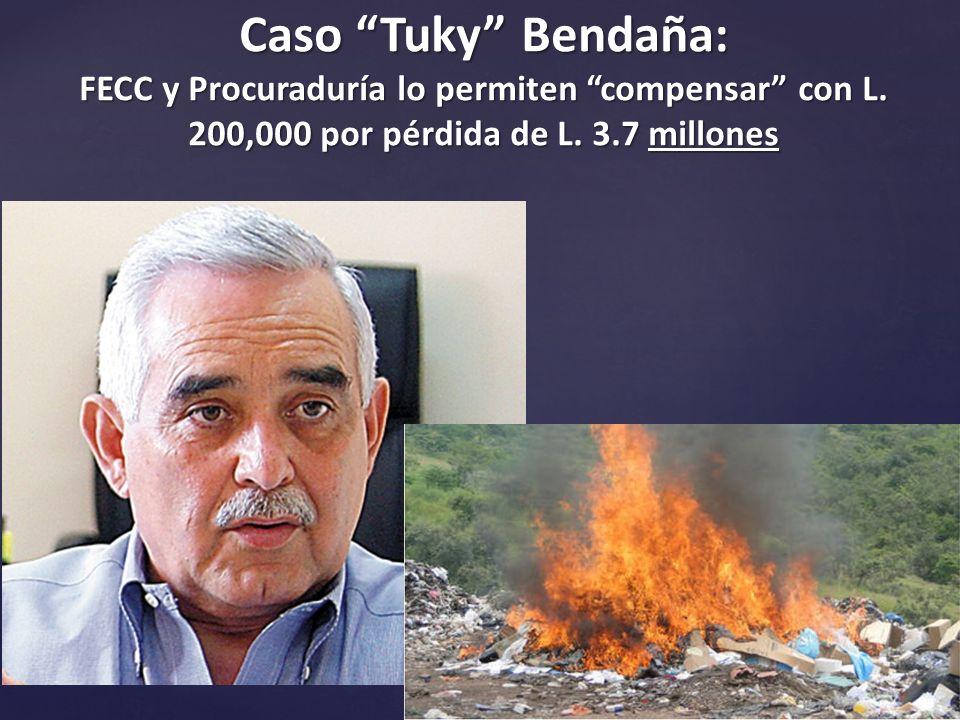 Caso Tuky Bendaña: FECC y Procuraduría lo permiten compensar con L.