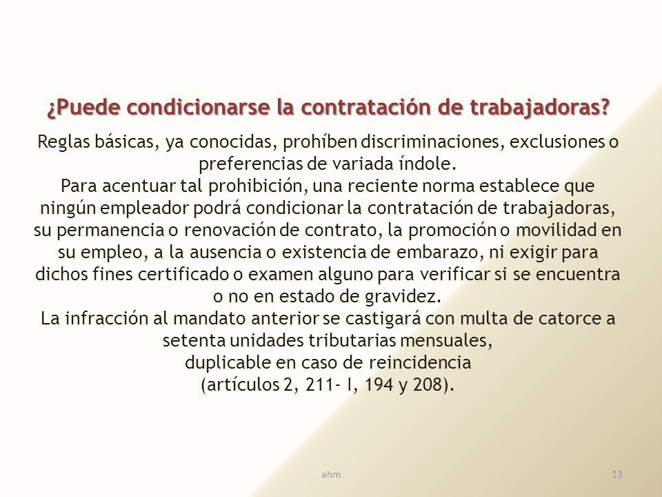¿Cuál es su regulación específica en Chile? Fruto de arduas luchas sociales, hoy existen reglas destinadas a defender la maternidad, tanto en el área