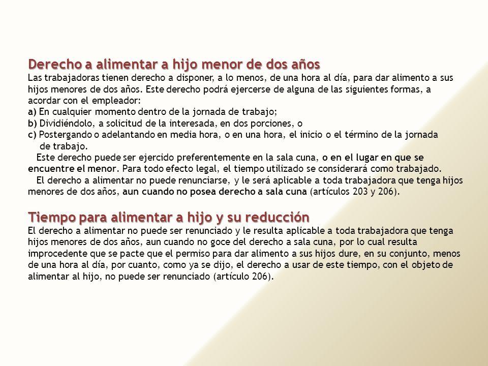 43 7. DERECHO A ALIMENTACIÓN DEL NIÑO Y PERMISOS