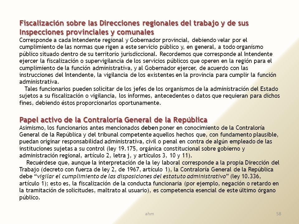 Principios administrativos que someten a los funcionarios del Trabajo, y su control Principios administrativos que someten a los funcionarios del Trab