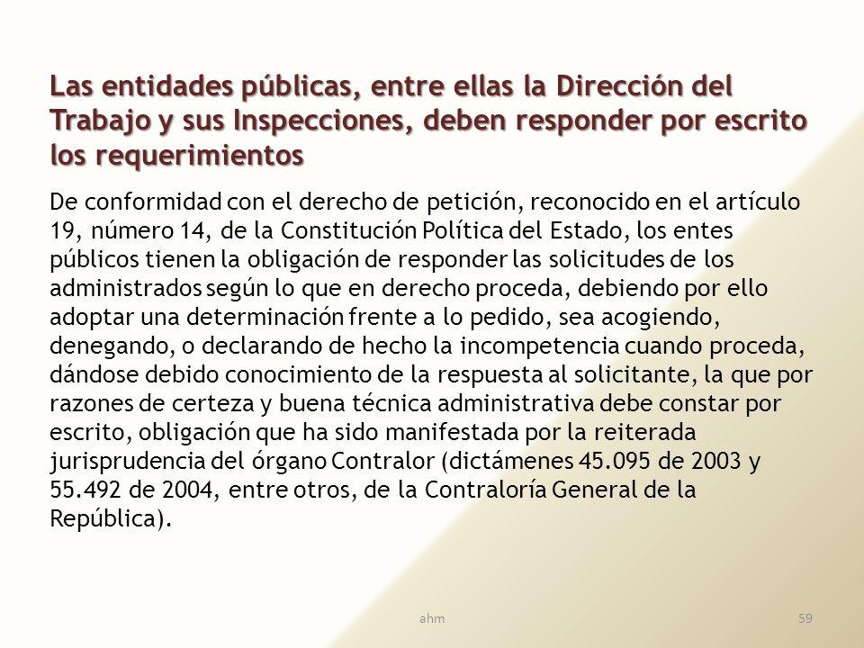 Fiscalización sobre las Direcciones regionales del trabajo y de sus Inspecciones provinciales y comunales Papel activo de la Contraloría General de la