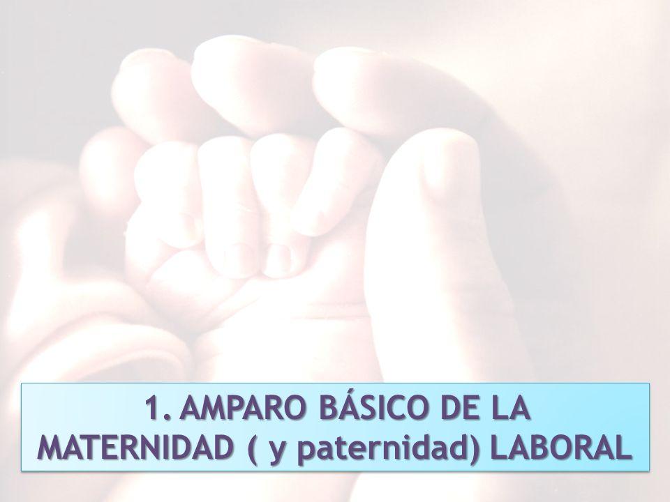 8 1.AMPARO BÁSICO DE LA MATERNIDAD ( y paternidad) LABORAL 1.AMPARO BÁSICO DE LA MATERNIDAD ( y paternidad) LABORAL