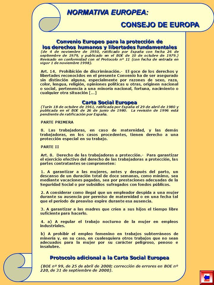 Convenio Europeo para la protección de los derechos humanos y libertades fundamentales (de 4 de noviembre de 1950, ratificado por España con fecha 26