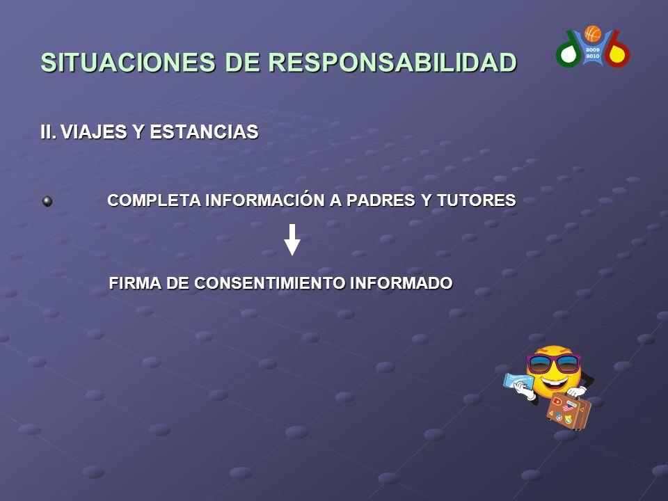 SITUACIONES DE RESPONSABILIDAD II.