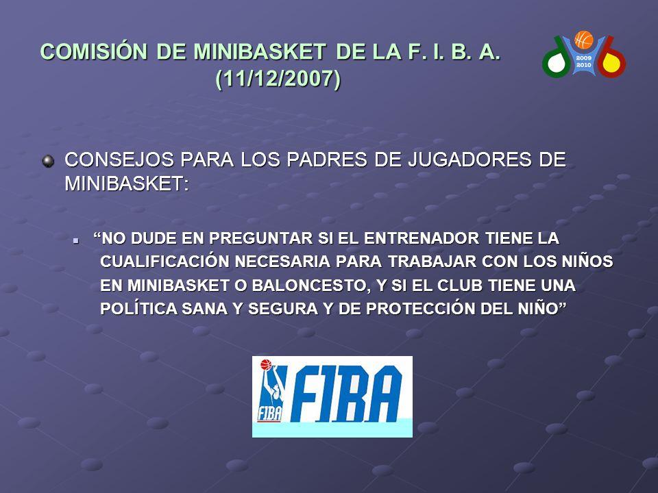 COMISIÓN DE MINIBASKET DE LA F. I. B. A.