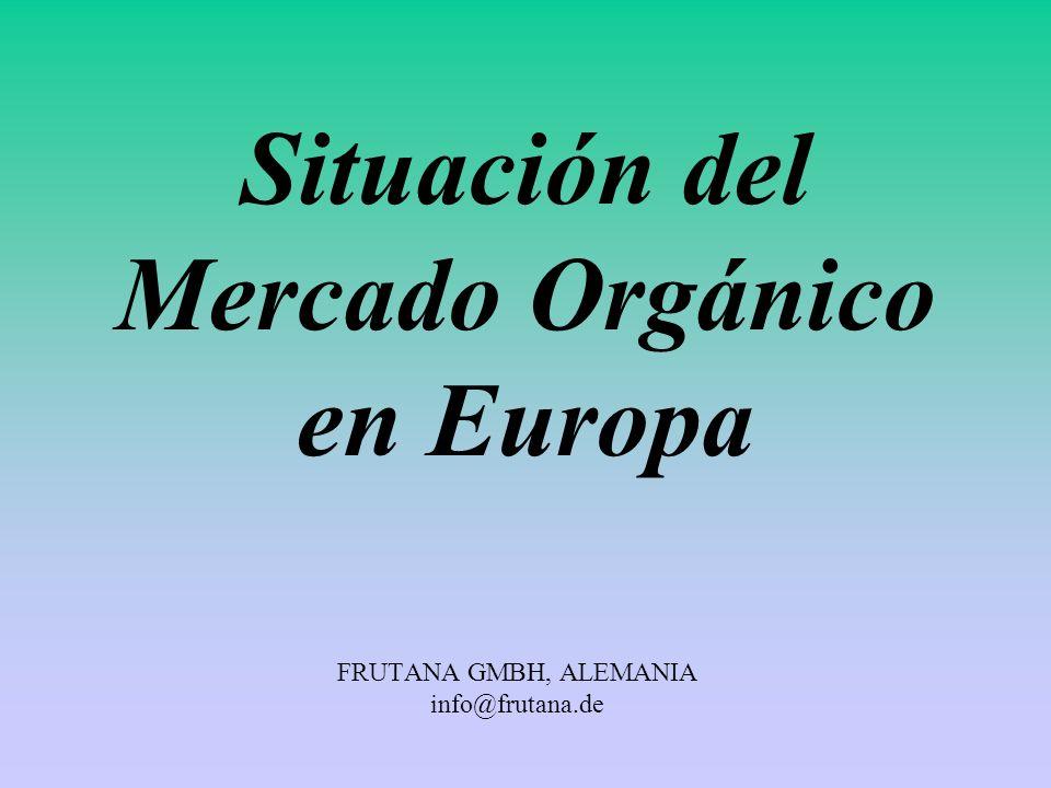 FRUTANA GMBH, ALEMANIA info@frutana.de Situación del Mercado Orgánico en Europa