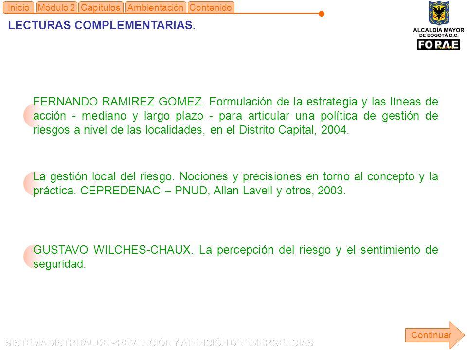 LECTURAS COMPLEMENTARIAS.Continuar Inicio FERNANDO RAMIREZ GOMEZ.