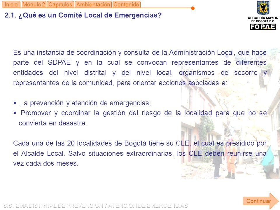 2.1.¿Qué es un Comité Local de Emergencias.