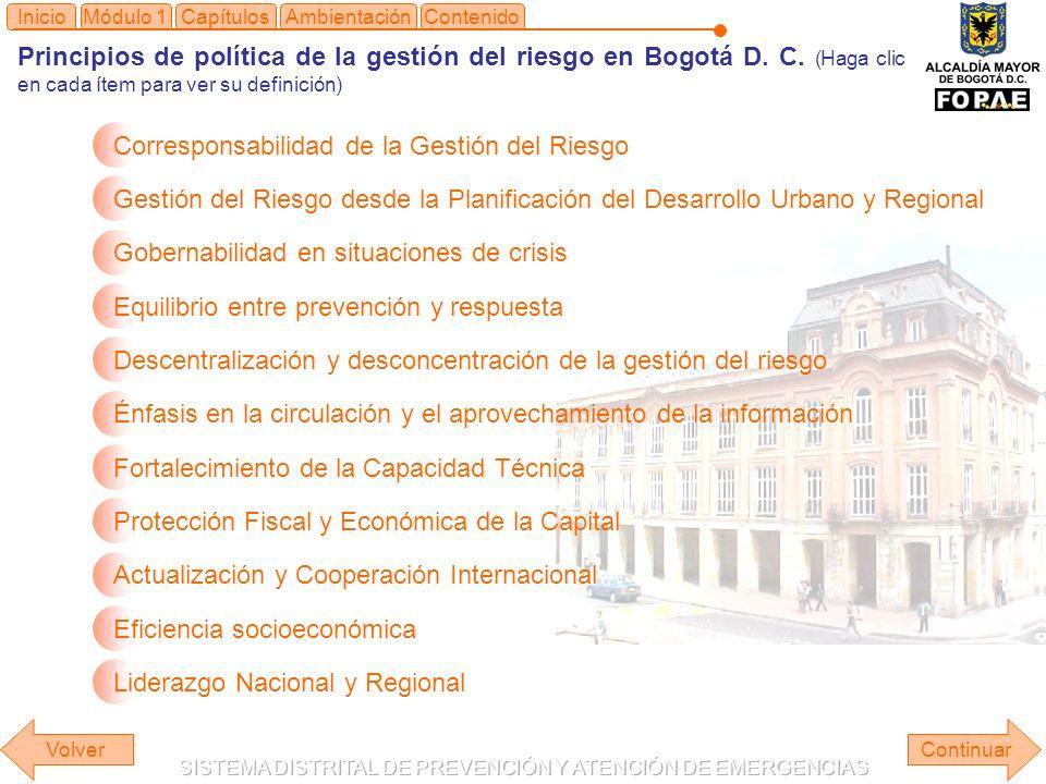 Módulo 1Capítulos Principios de política de la gestión del riesgo en Bogotá D.
