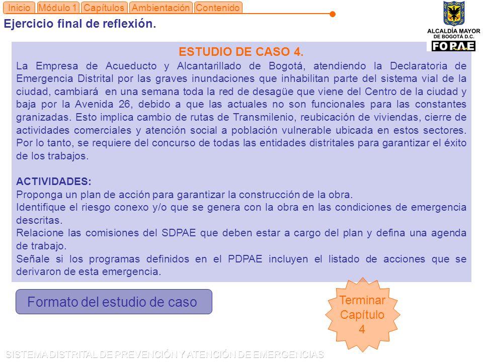 Módulo 1CapítulosInicio ESTUDIO DE CASO 4.