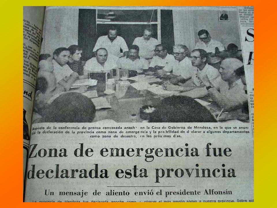 Por otra parte se constituyó una comisión Parlamentaria de Emergencia presidida por el Vicegobernador Dr.