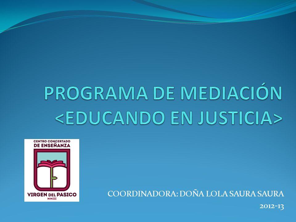 Funciones de la coordinadora y de la Comisión responsable del Programa de Mediación.