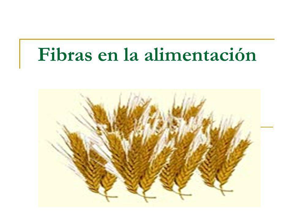 Concepto de fibra alimentaria Conjunto de componentes presentes en alimentos de origen vegetal que no pueden ser digeridos por el organismo humano, debido a la ausencia de enzimas que puedan digerirlos y utilizarlos.