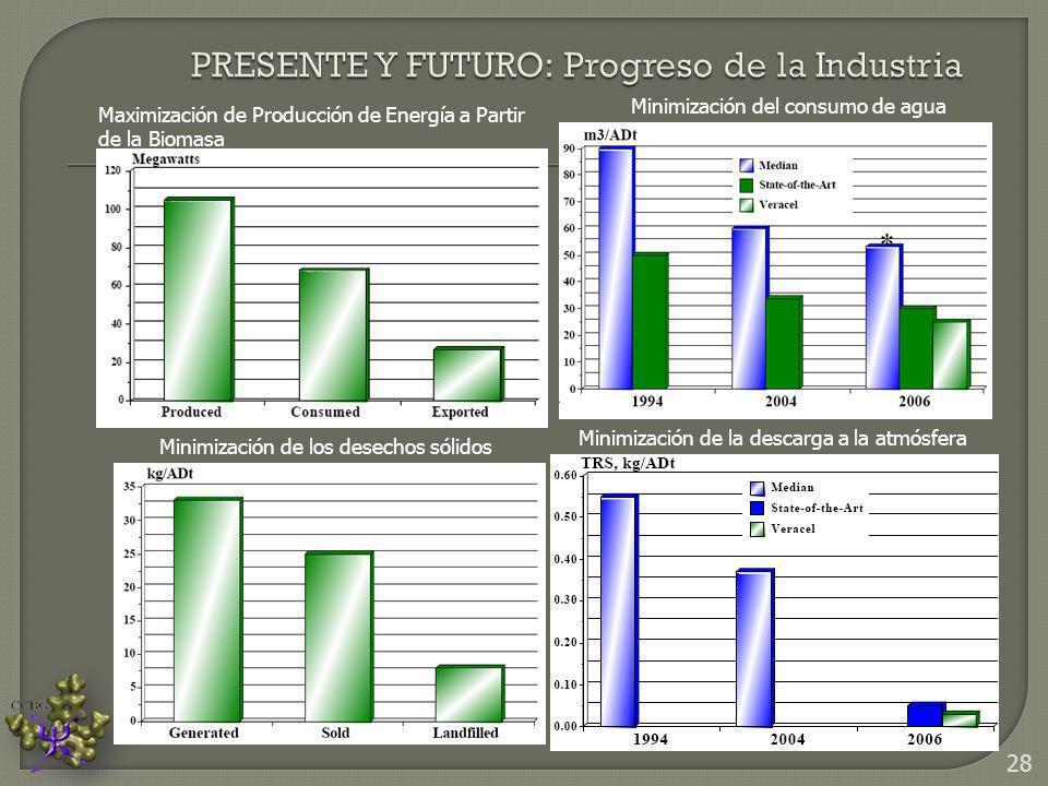 Maximización de Producción de Energía a Partir de la Biomasa Minimización del consumo de agua Minimización de los desechos sólidos Minimización de la