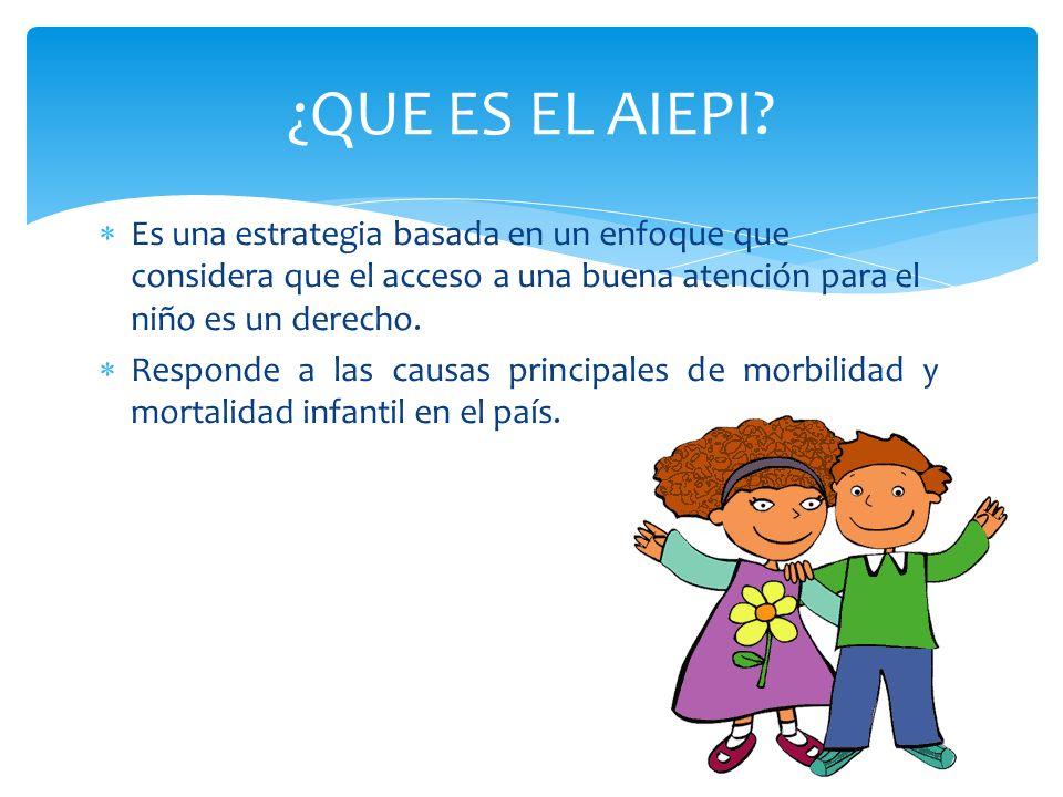 Es una estrategia basada en un enfoque que considera que el acceso a una buena atención para el niño es un derecho. Responde a las causas principales